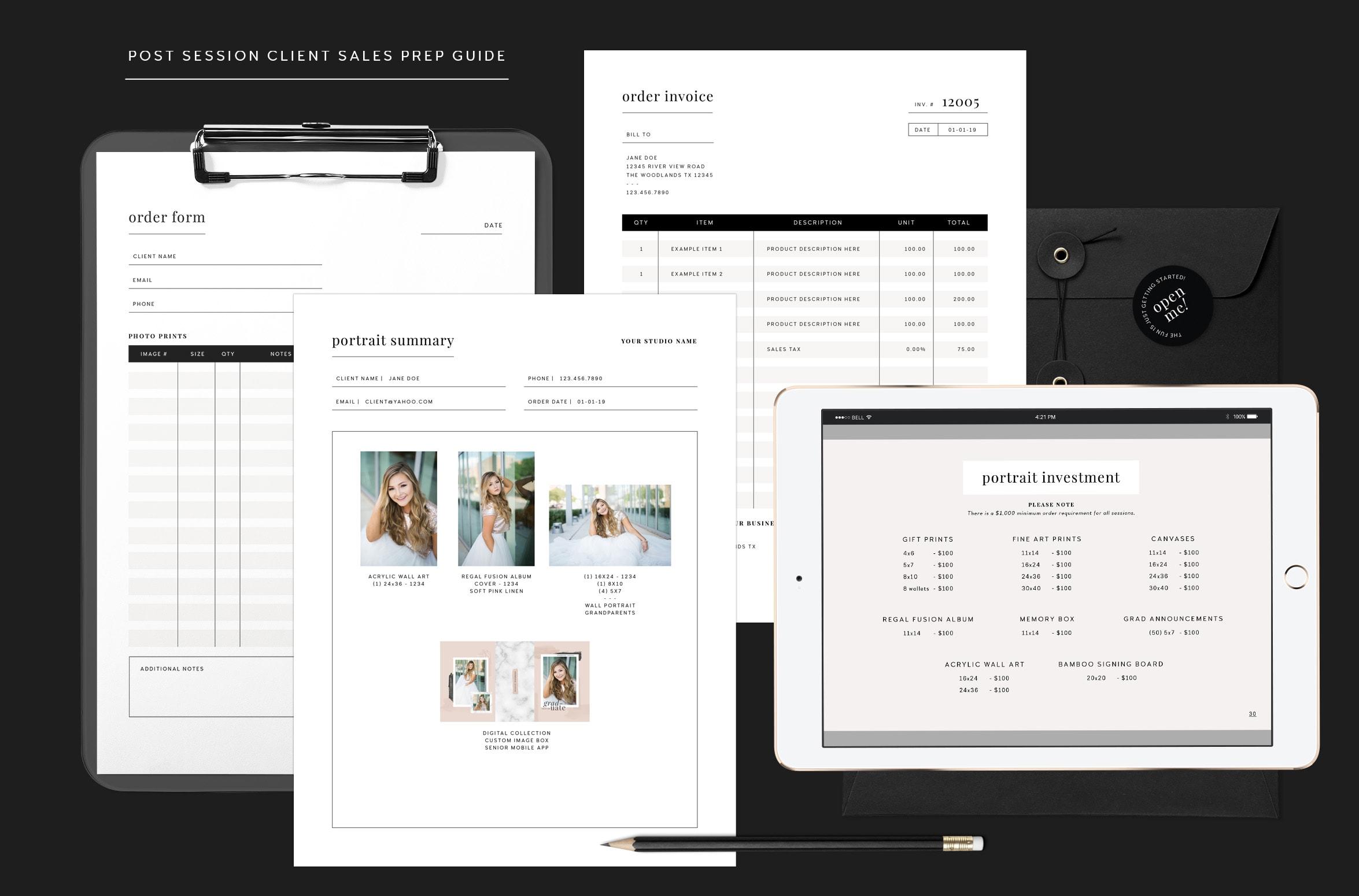 Post Session Client Sales Prep Guide